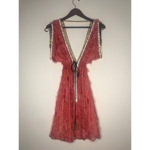 Dresses & Skirts - Kasia de Gelaque Coral Rhinestone Dress